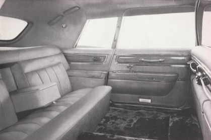 Rear interior of a Ghia ..